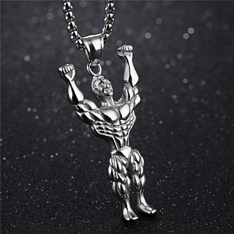 China factory bodybuilding fitness accessories jewelry necklace pendant,customized simple fashion jewelry pendant