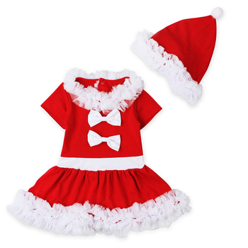 Navidad Niñas Vestido Del Tutú Del Cordón Santa Claus Vestido De Traje Con Sombrero Rojo Vestidos Para Niños Princesa Bowknot Del Bebé Buy Vestido