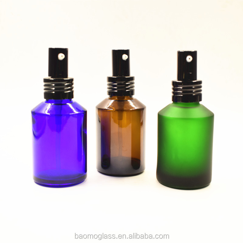 60ml colored sun proof empty spray glass bottle for sale in stock