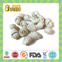 Cheese Flavor Wholesale Bulk Sugar Free Canine Pet Food No Rawhide Knotted Bone White Dog Products