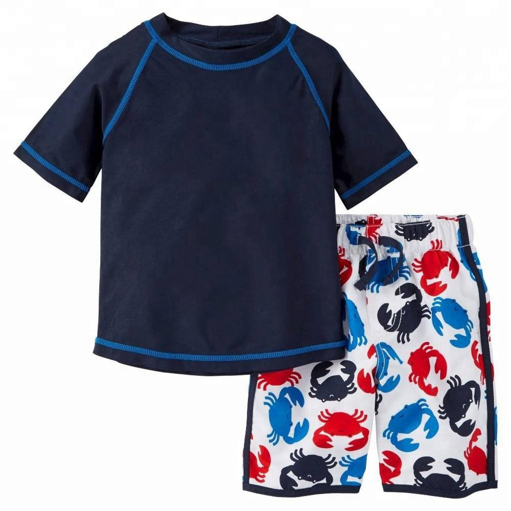 Hot Selling OEM high quality boy swimming lycra surfing suit baby rash guard