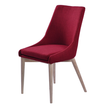 Modern simple fashion design one pc high back and seat fabric woven solid leg gold plate metal KD comfortable dining chair