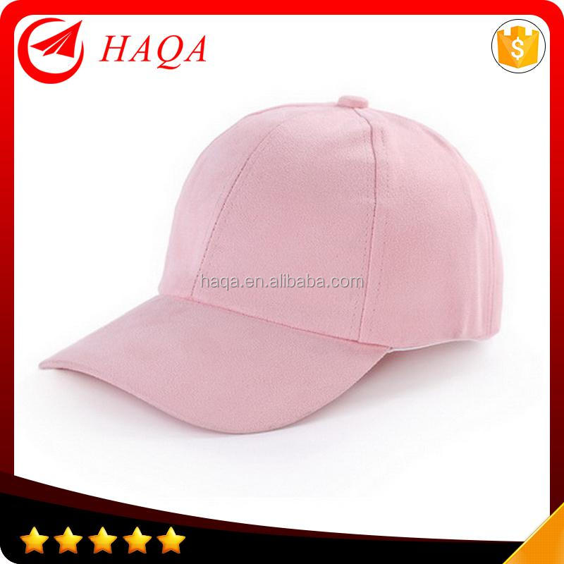 Ladies suede baseball fitted cap hats
