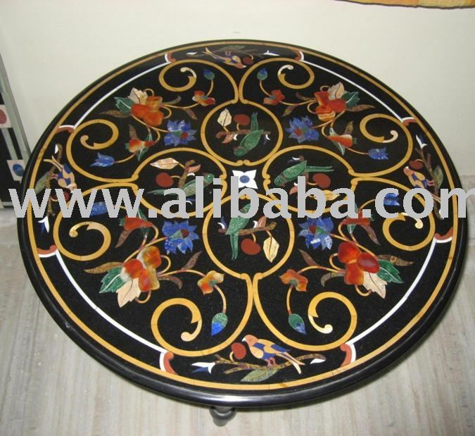Black Marble Inlay Table Top   Buy Inlay Table Product On Alibaba.com