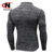 men's compression tights gym wear long sleeve shirt for men 1/4 Zip