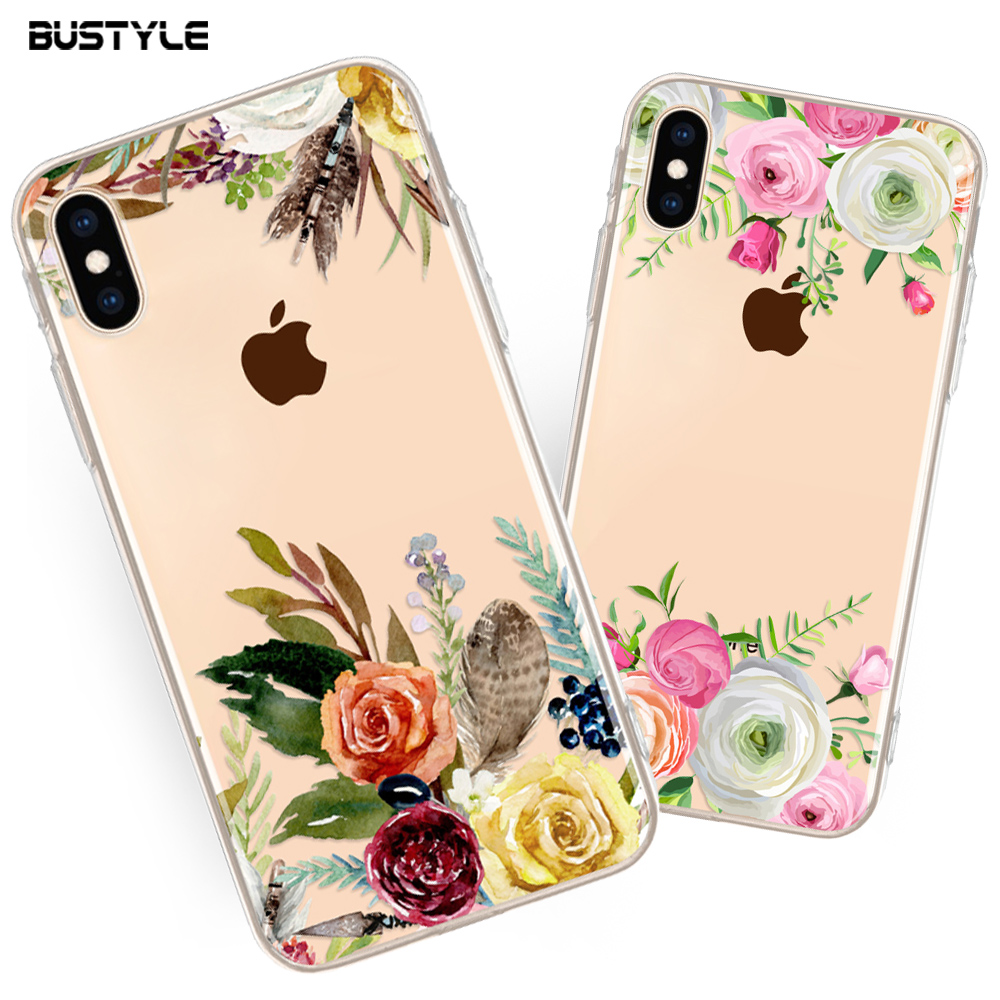 reputable site 15b3b 87393 Beauty Floral 3d Transparent Clear Custom Silicone Phone Case For Iphone 6  6s 7 7plus Phone Case For Iphone X Xs Xr Max Case - Buy Mobile Phone ...