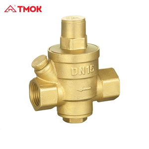 forged PN16 brass limited pressure reducing valve regulate valve air steam double male thread cw617n relief in TMOK OUJIA VALVE