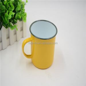 create your own brand organic assorted colors enamel mugs