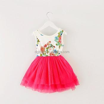 a8008528b Verano nuevo floral niña vestido princesa Tutu vestido 8 colores vestidos  infantiles ropa de niños con