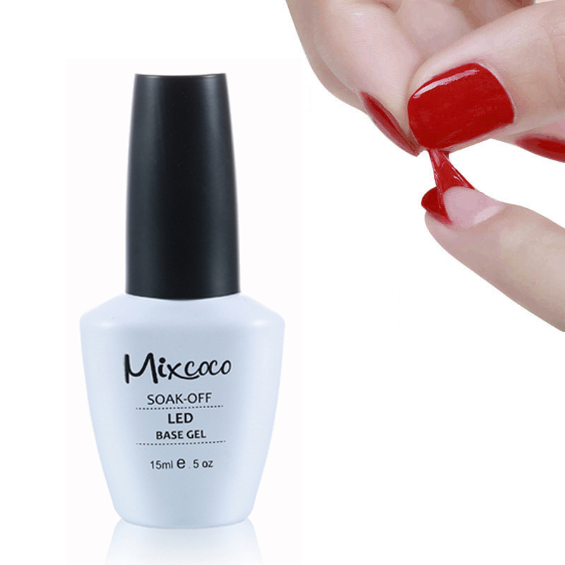 2020 Mixcoco Clear Color Healthy Formula Soak Off UV No Wipe Base Coat <strong>Gel</strong>