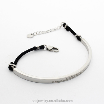Best Price Custom Stainless Steel Meaning Nylon Rope Jewelry 925