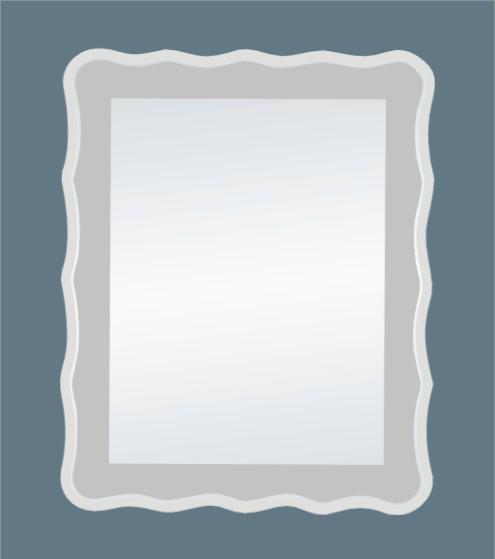 borde de la onda de diseo moderno bao espejo espejo sin marco