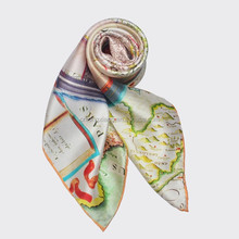 Turkey Digital Print Custom Design Silk Material Pure Silk Satin Square Scarf For Women