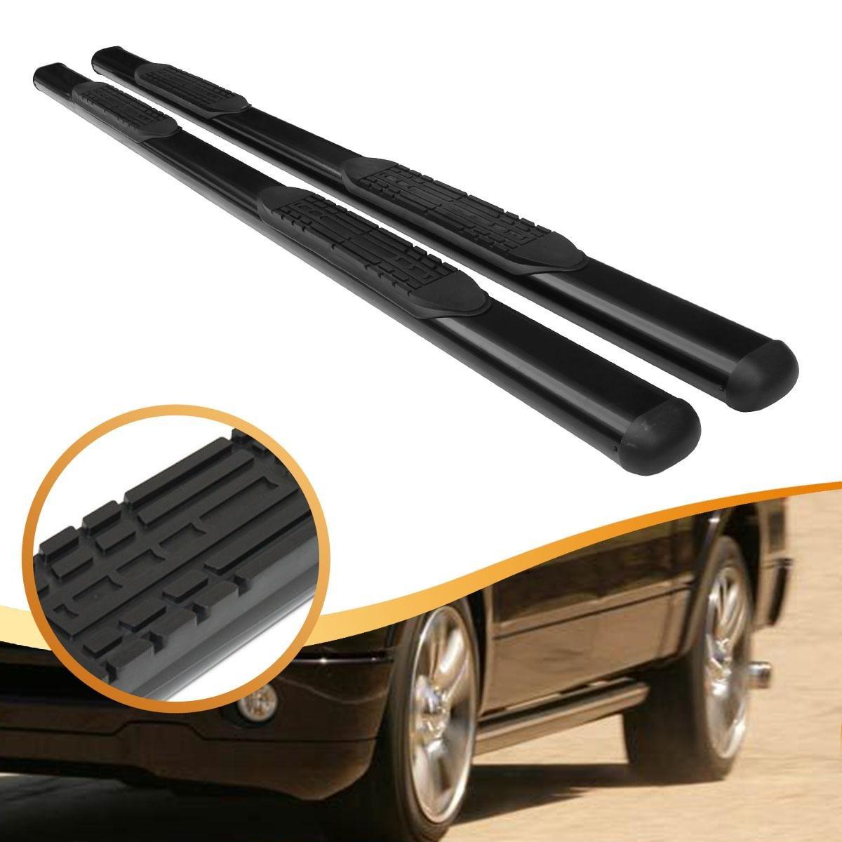 """4"""" Black Oval Side Step Nerf Bars Running Boards for 02-08 Dodge Ram Quad Cab"""