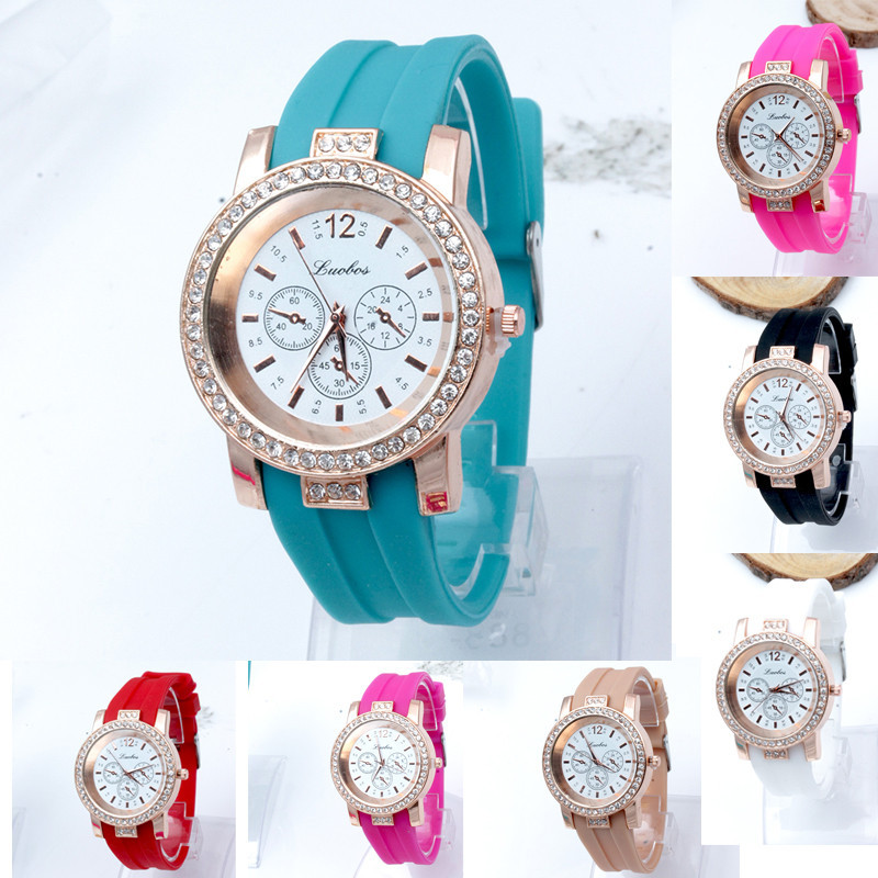 Malloom Newest 2015 Fashion Watch Women Hot Girl Casual Candy Colored Jelly Silicone Ladies Watches Tops relogio feminino