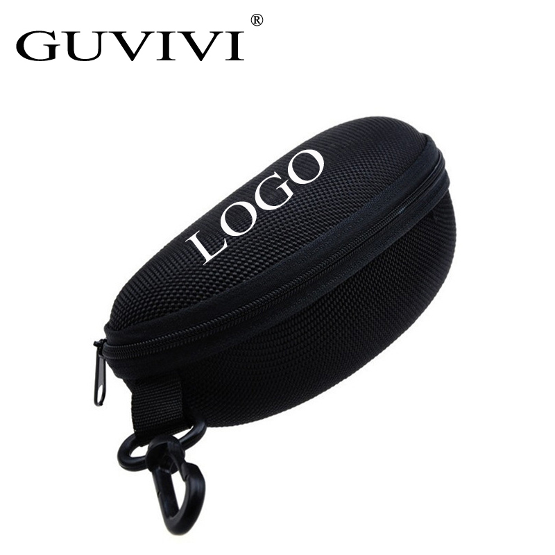 GUVIVI 소매 Zipper Hard Black 선글라스 Case 안경 Glasses Pouch Bag Eyewear 상자 Glasses 건 Sport 선글라스 Case