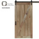 Pine knotty sliding barn wood door slab two-side x shape barn door