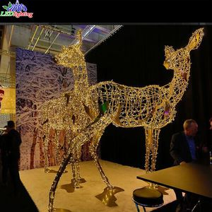 new year decoration reindeer car kit