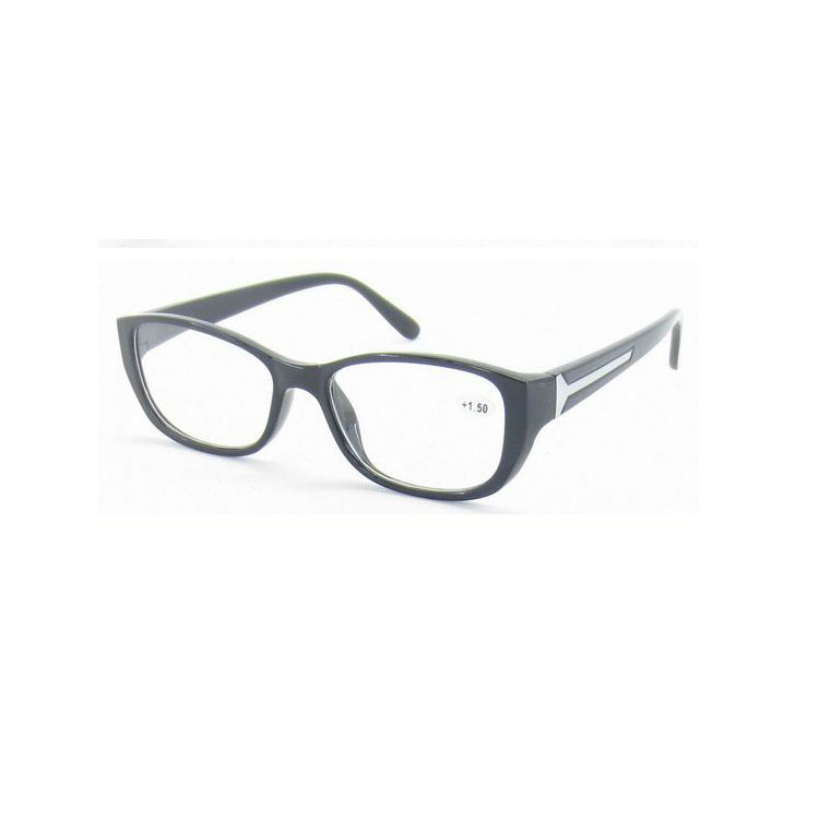 2015 tinted fashion 100% plastic reading glasses with pouch