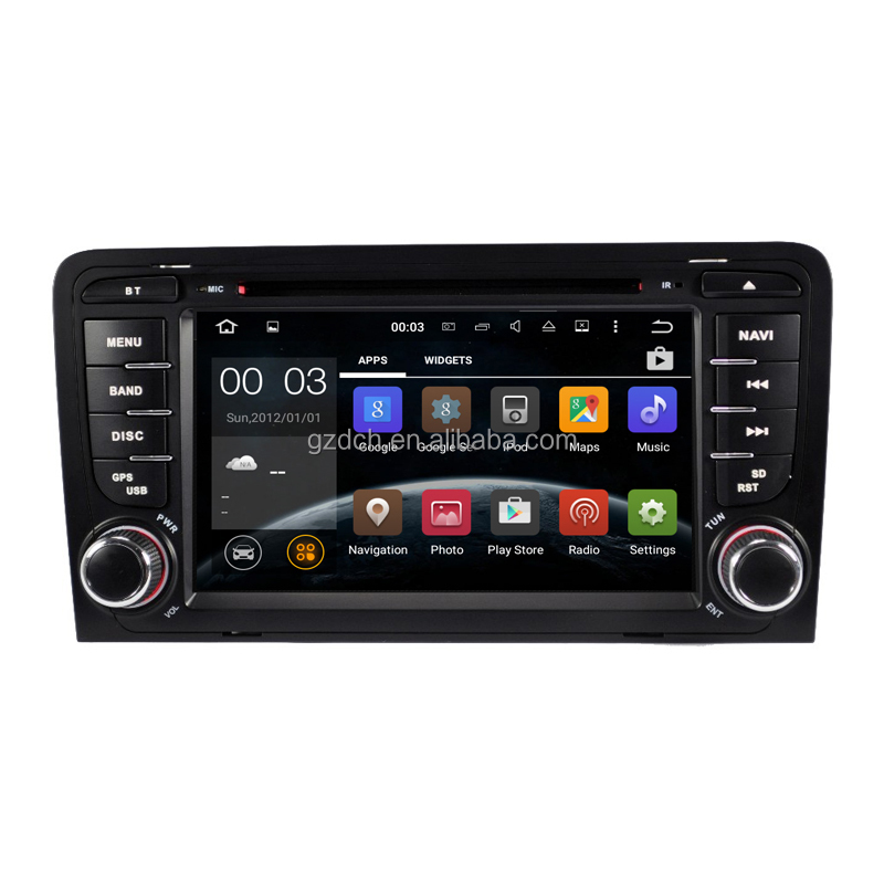 <strong>Android</strong> 7.1 Quad Core Car DVD Player For Audi A3 S3 RS3 RNSE-PU 2003-2011 with can <strong>bus</strong> 2G+16G WS-9413