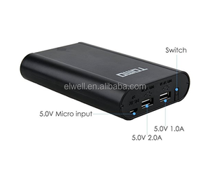 Best selling tomo v8-4 18650 power bank battery charger review 4 slot 18650 battery LED display 5V 1A 2A output