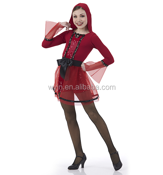 2016 New Design -Long Sleeve Design and Spandex / Cotton Material fancy dress