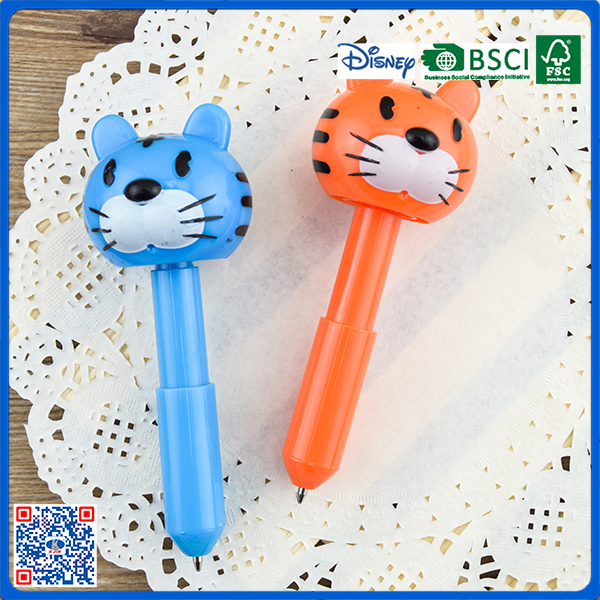 Funny toy style lovely plastic ballpoint pen for promotion