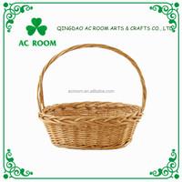 AC ROOM wicker storage basket gift/flower basket with handle
