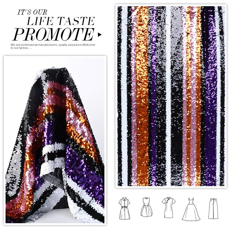 Online shopping fashionable luxury poly colorful sequin fabric online india