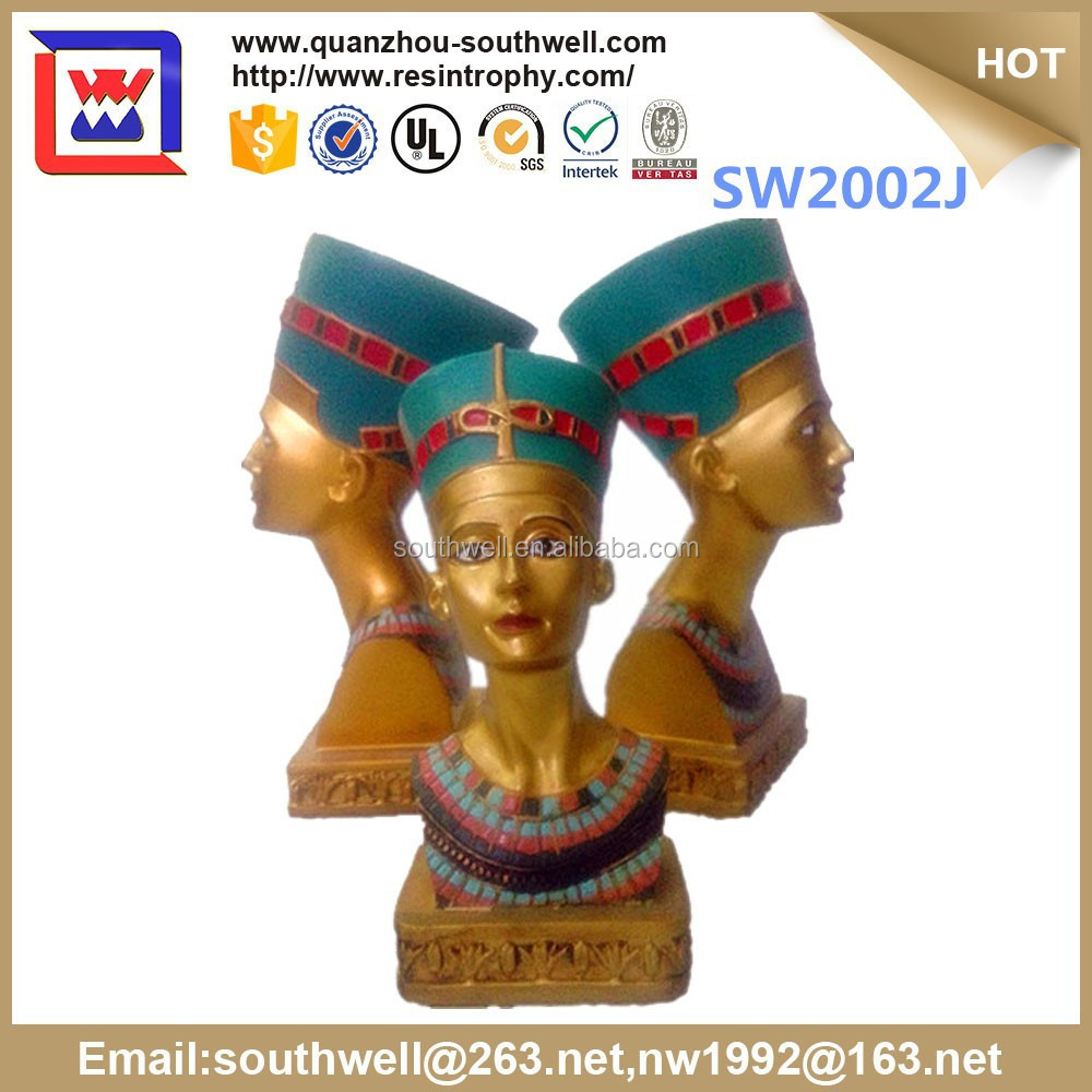 3d Egypt art sculpture wholesale and Egyptian Queen Statue Figurine for sale