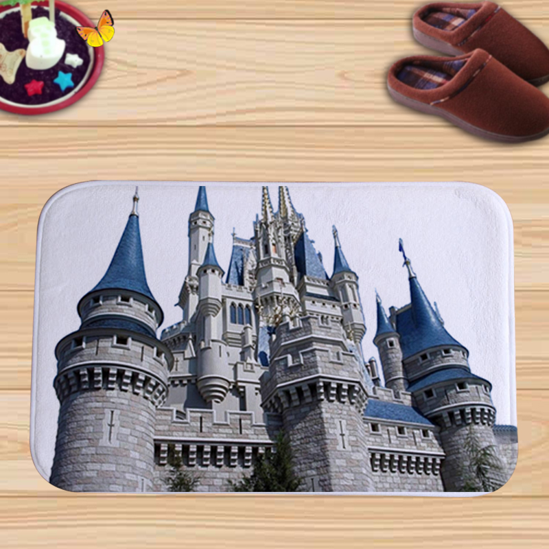 European-style Buildings Colorful Flannel Door Mat Factory Custom Made Floor Mat Doormat