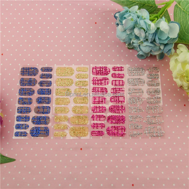 Gmpc Factory Customize Lace Fabric Nail Wraps,Oem Nail Patch And ...