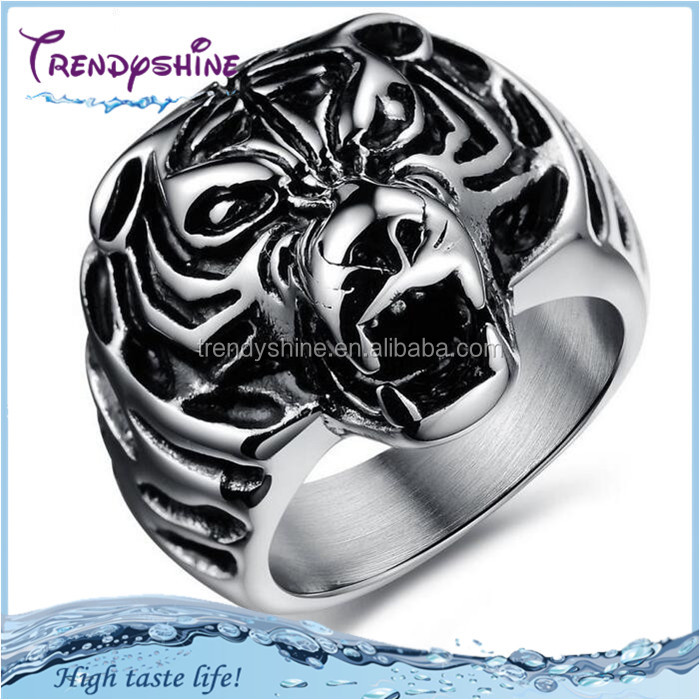 Ebay silver men's 316 l stainless steel antique tiger head ring