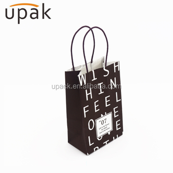 black cardboard lunch bags kraft takeout paper bags with handles