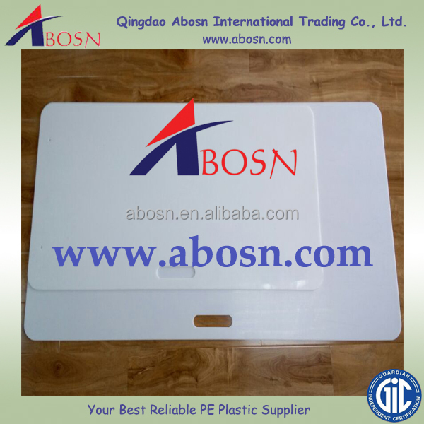 Abrasion and impact resistant HDPE hockey shooting pad/sport court flooring