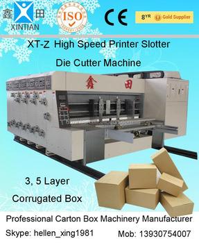 cardboard printing machine