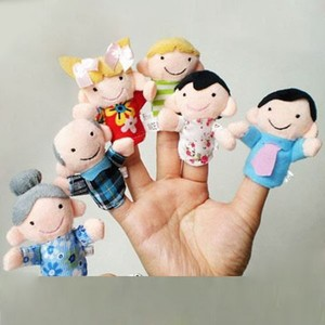 A happiness family finger puppet for wholesale