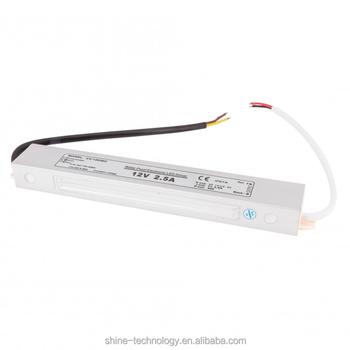 Waterproof ip67 led driver 30w 12v ac/dc adapter 220v 110v.