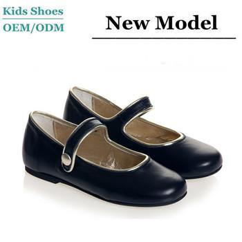 b95e6dbd44 Classic design girls navy blue leather shoes children ballet shoes kids  orthopedic shoes