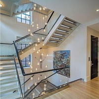 Hanging Lighting Crystal Bubble Ball Chandelier Villa Stair Crystal Chandelier LED lamp