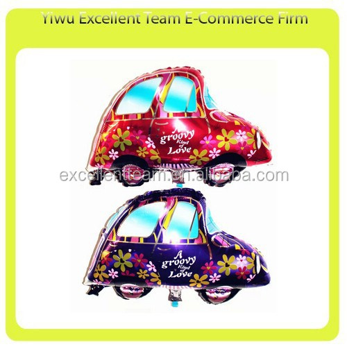 Wedding Car Foil Balloons Decoration Party & Valentine's day Helium Balloon