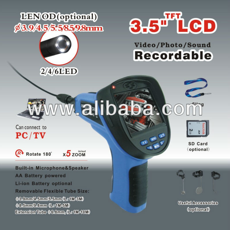 2.4 LCD Portable Video Inspection Endoscope Snake Scope