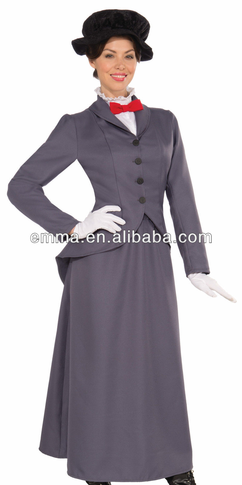 Womens Mary Poppins Victorian English Halloween Costume ...
