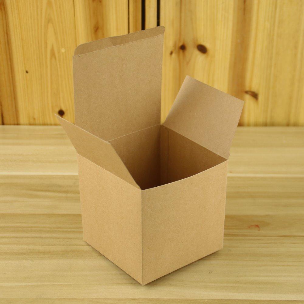 10x10x10 cm carr biscuits bonbons cadeau bo te de papier pour le papier kraft emballage de. Black Bedroom Furniture Sets. Home Design Ideas