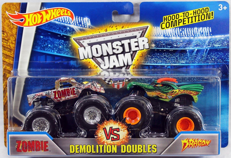 2016 Hot Wheels Monster Jam Demolition Doubles - Zombie Vs. Dragon 1:64 Scale