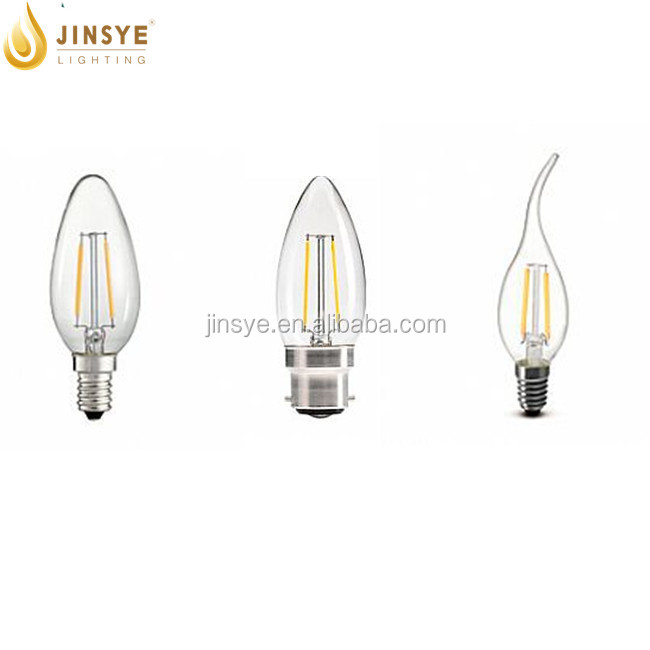 4W 6W A19 E27 led filament dimmable China bayonet b22 led bulb