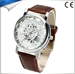 2015 New arrive fashion dress men watches skeleton Leather Brand Watches For Men MW-11