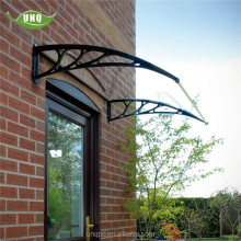 Removable window awnings metal parts with aluminium frame