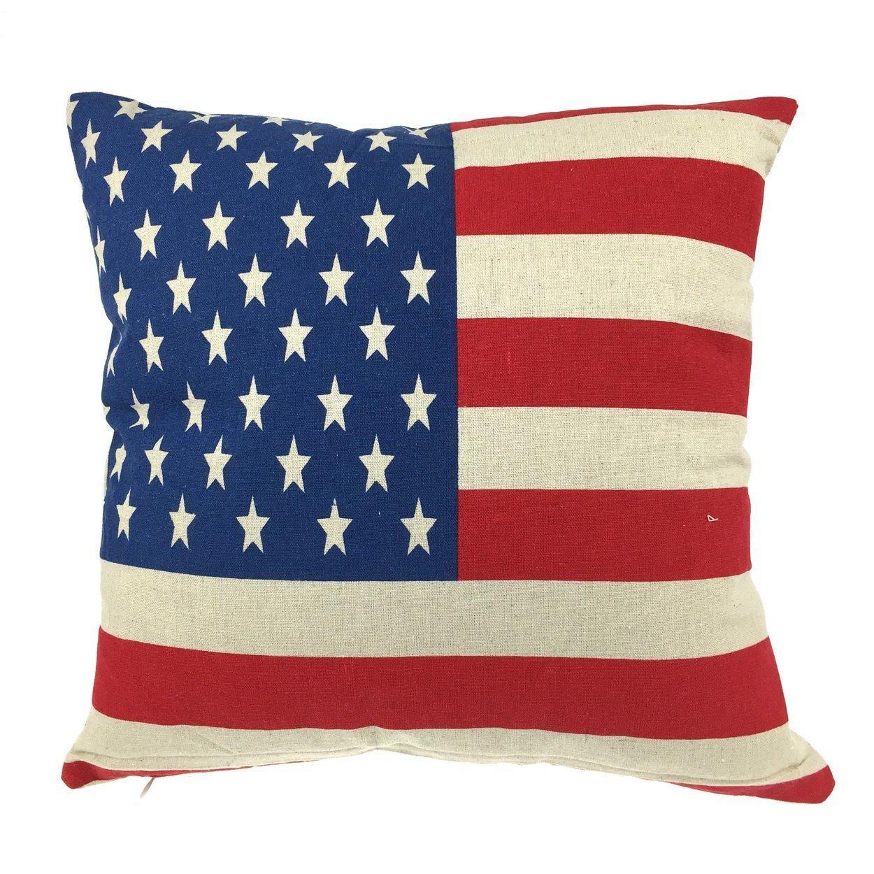 a53d92539d2a Get Quotations · Luxbon - Cotton Linen Vintage Style Flag Design Sofa Couch  Seat Throw Pillow Case Cushion Cover