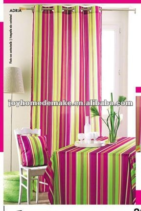 voile printed curtain
